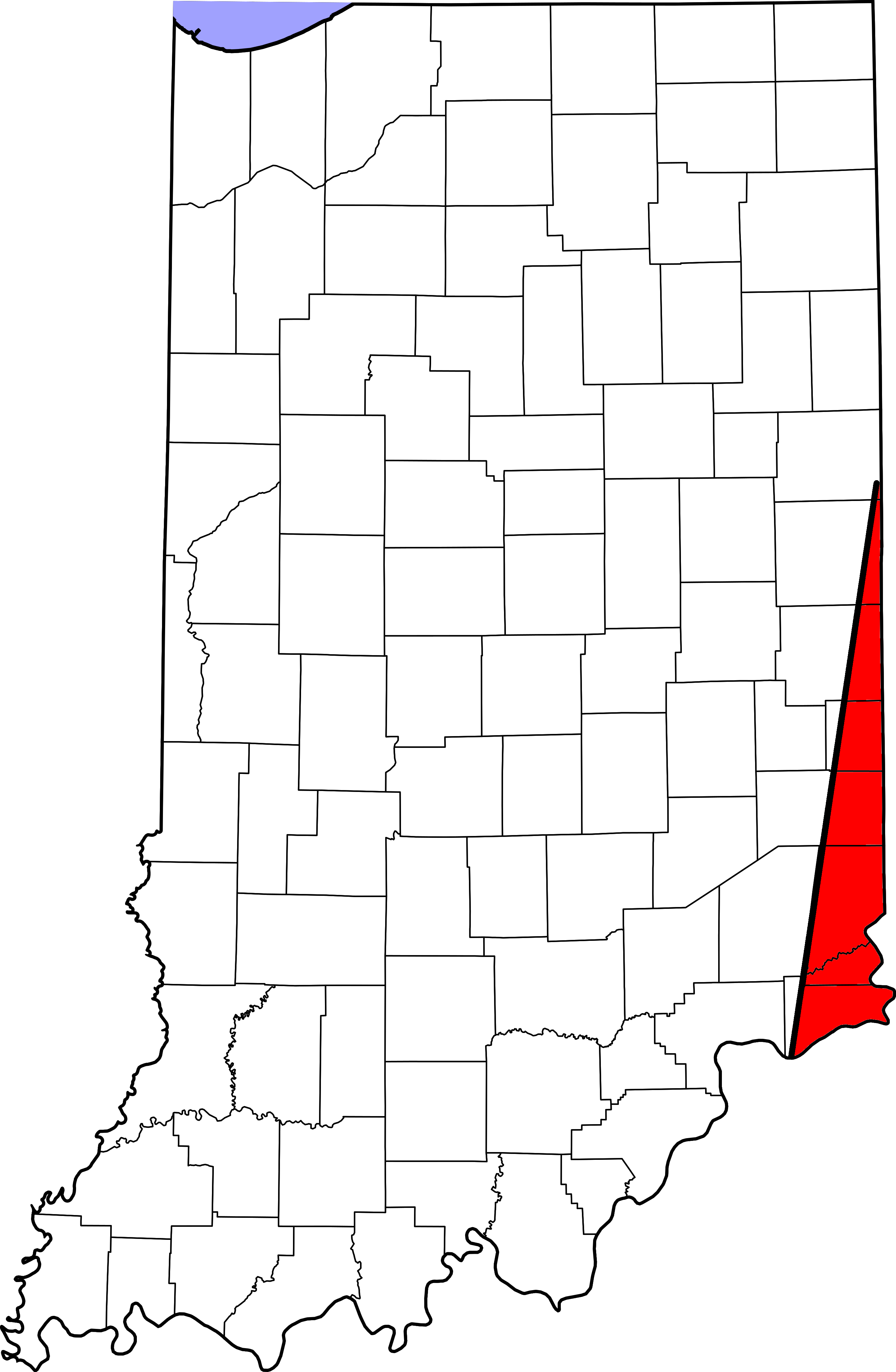 Welcome To Indianas Gore - Counties in indiana map